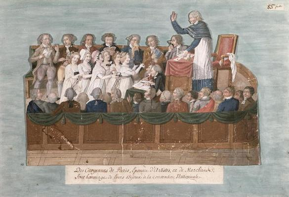 Parisians Offering their Jewellery to the Convention, c.1792