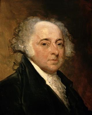 Portrait of John Adams (oil on canvas) by Stuart, Gilbert (1755-1828) (after)