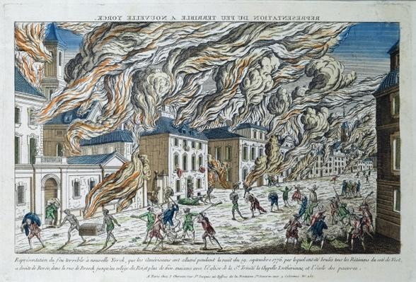 The Great Fire of New York, 19th September 1776