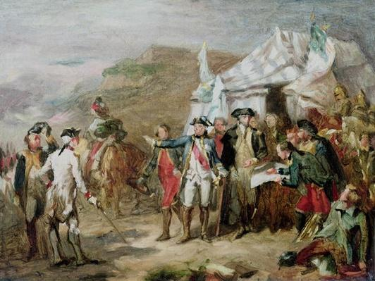Sketch for the Battle of Yorktown, 1st to 17th October 1781, c.1836