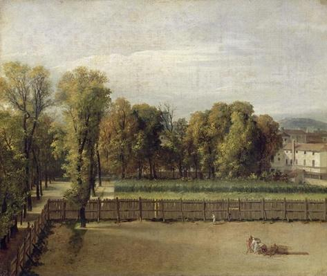 View of the Luxembourg Gardens in Paris, 1794