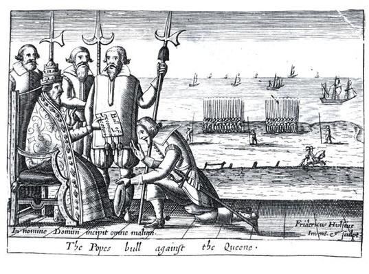 The Pope's Bull against the Queen in 1570