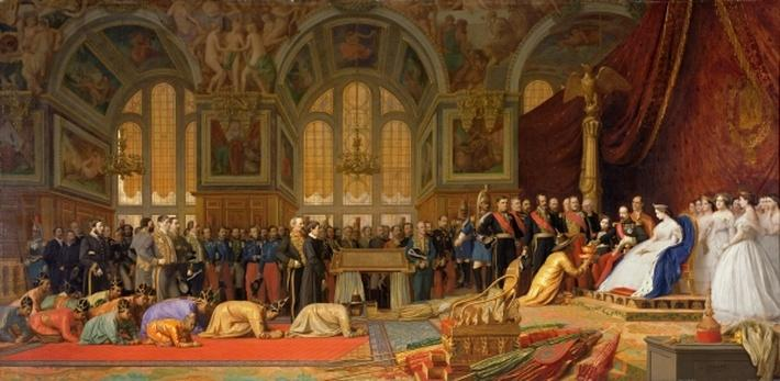 The Reception of Siamese Ambassadors by Emperor Napoleon III