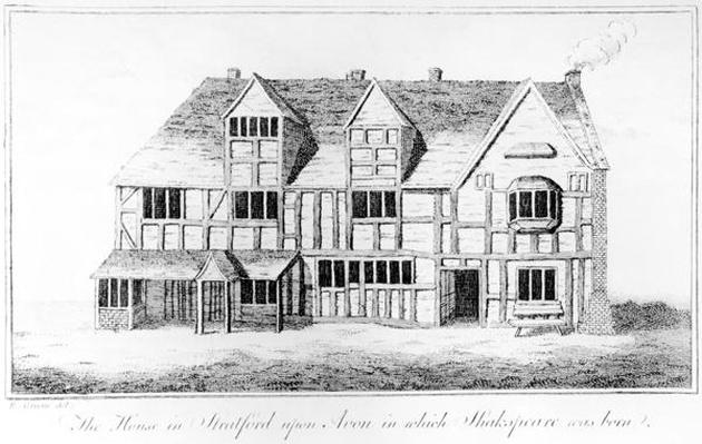 The House in Stratford-upon-Avon in which Shakespeare was Born