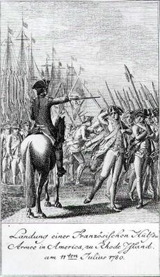 The Landing of a French Auxiliary Army at Rhode Island in America, 11 July 1780