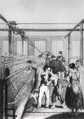 Factory Children, or Love conquerd fear!, illustration from 'Michael Armstrong: Factory Boy' by Frances Trollope, published in 1840