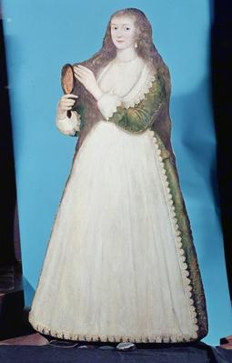 Dummy board figure of a woman, c.1620