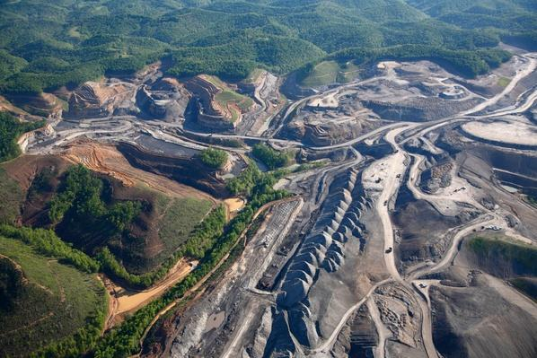 Aerial View of Mtr Coal Mining | Earth's Resources