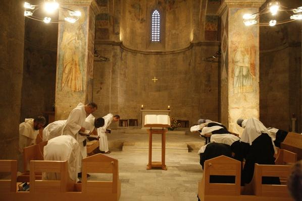 Vespers at Abu Gosh Benedictine Monastery, Israel, Middle East | World Religions: Christianity