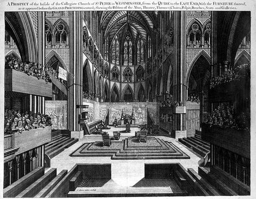 A Prospect of the Inside of the Collegiate Church of St. Peter in Westminster