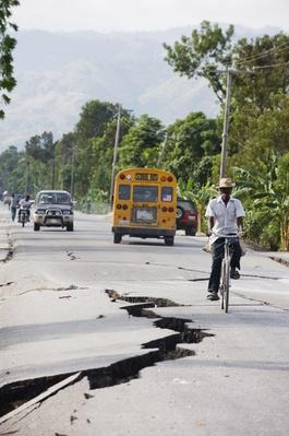 Earthquake Fissures, 2010, Haiti | Natural Disasters: Hurricanes, Tsunamis, Earthquakes