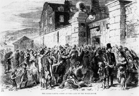 The Irish Famine: Scene at the Gate of the Work-House, c.1846