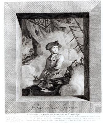John Paul Jones, Commodore in the Service of the United States of America, engraved by Carl Guttenberg