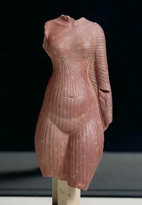 Female torso, probably Queen Nefertiti, Amarna period
