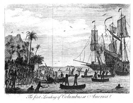 The First Landing of Columbus at America