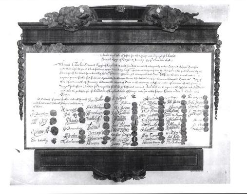 The Death Warrant of Charles I, 29th January 1648