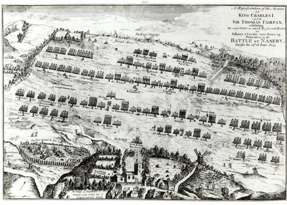 Preparation for the Battle of Naseby, fought on the 14th June 1645 published in 'The History and Antiquities of Naseby' by John Mastin, 1792