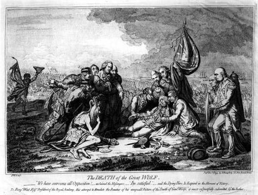 The Death of the Great Wolfe, pub. by H. Humphrey, 1795