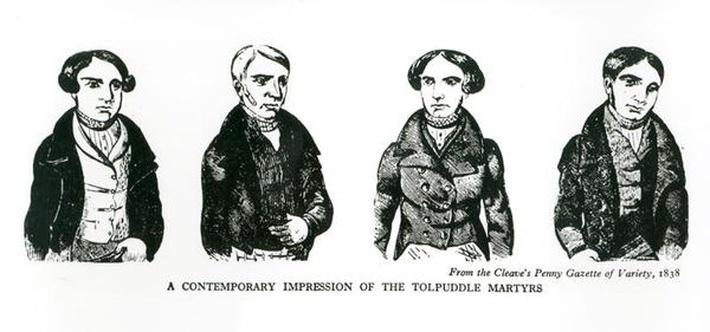A Contemporary Impression of the Tolpuddle Martyrs, from the Cleave's Penny Gazette of Variety, 1838