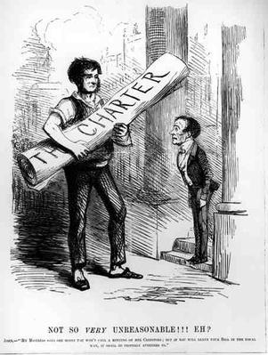 'Not So Very Unreasonable, Eh?', cartoon from Punch Magazine, 1848