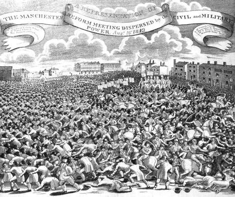 The Manchester Reform Meeting Dispersed by Civil and Military Power, August 16th 1819