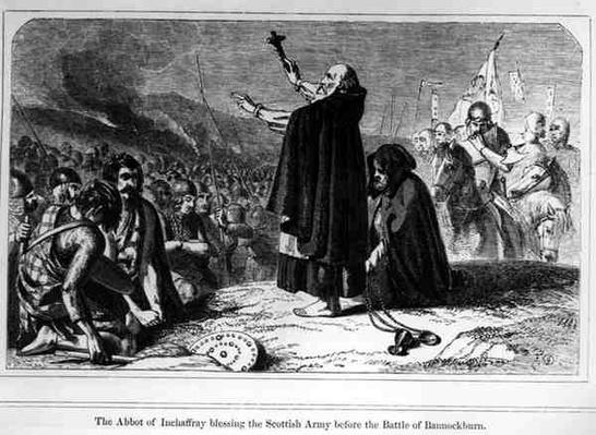 The Abbot of Inchaffray Blessing the Scottish Army Before the Battle of Bannockburn, 21st June 1314, engraved by T. Bolton