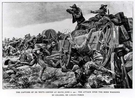 The Capture of de Wet's Convoy at Reitz, June 6 1901. The Attack upon the Boer Wagons by Colonel de Lisle's Force