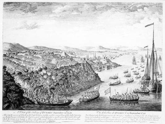A View of the Taking of Quebec, September 13th 1759
