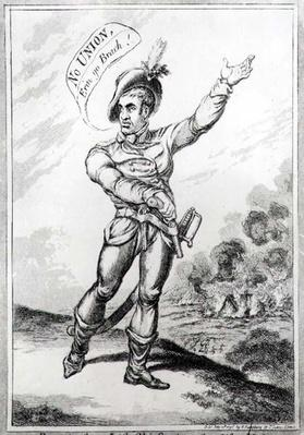 'Portrait of an Irish Chief, drawn from life at Wexford', pub. by H. Humphrey, 10th July 1798