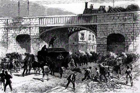 Attack on the Prison Van at Manchester, and the Rescue of the Fenian Leaders Allan, Larkin and O'Brien, 1860s