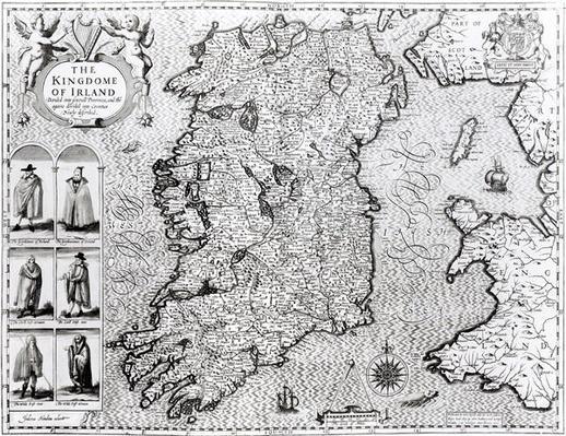 The Kingdom of Ireland, engraved by Jodocus Hondius