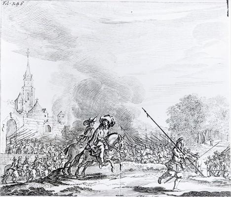 Retreat from the Battle of Worcester, 3rd September 1651