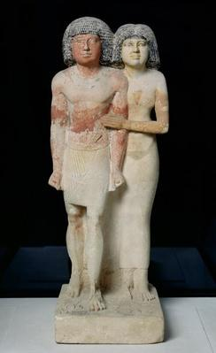 Statue of Raherka and Meresankh, Old Kingdom