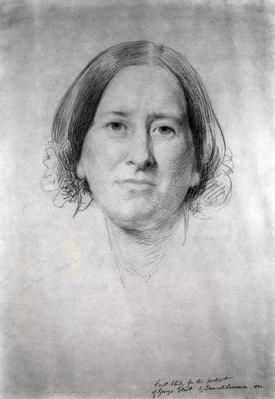 First Study for the Portrait of George Eliot