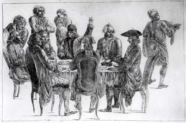 The Philosophers at Supper, c.1775