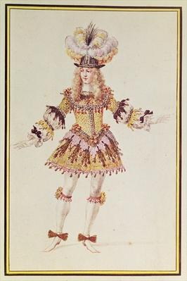 Costume design for male dancer, c.1660