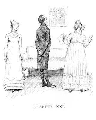 Scene from 'Pride and Prejudice' by Jane Austen