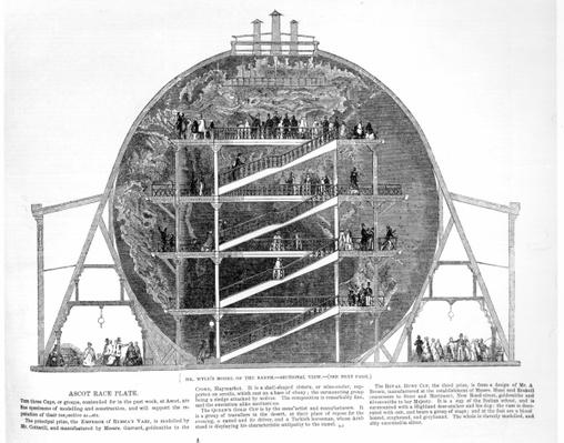 Wyld's Model of the Earth, 1851