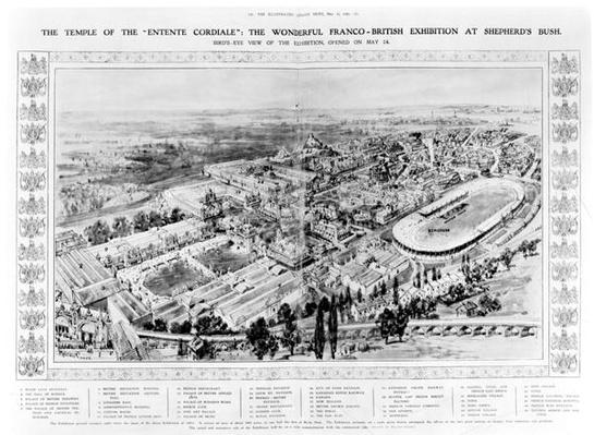 The Temple of the 'Entente Cordiale': The Wonderful Franco-British Exhibition at Shepherd's Bush, from 'The Illustrated London News', 16th May 1908