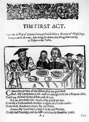 The First Act, a satirical play against William Prynne