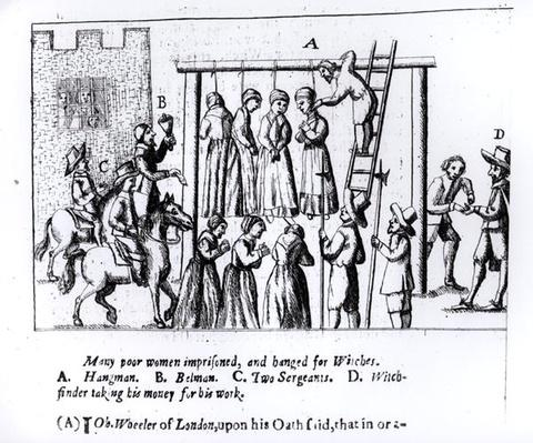 Many Poor Women Imprisoned and Hanged for Witches