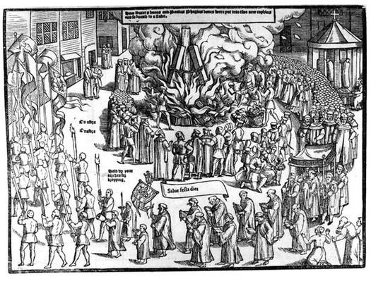 The Burning of the Remains of Martin Bucer
