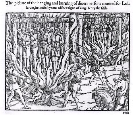 The Picture of the Hanging and Burning of Diverse Persons Counted for Lollards