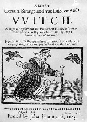A Most Certain, Strange and True Discovery of a Witch, 1643