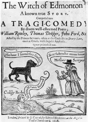 "Frontispiece to ""The Witch of Edmonton, a Known True Story', 1658"