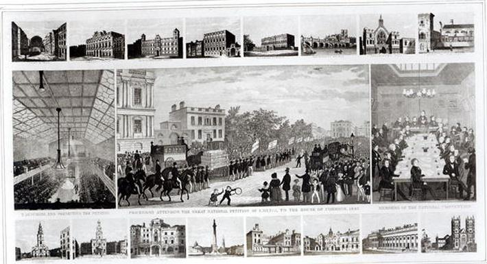 Scenes Associated with the Presentation of the Petition to Parliament by Thomas Duncombe