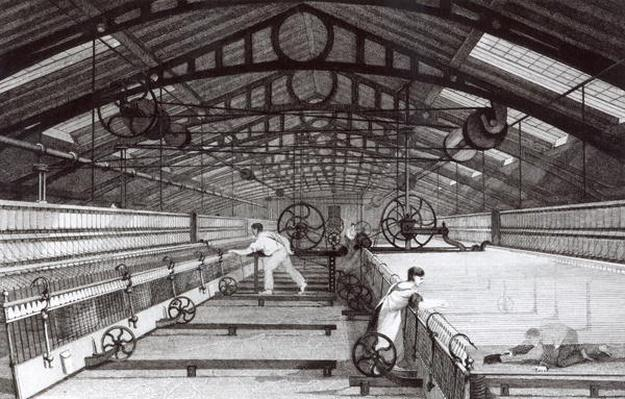 Interior of a Cotton Mill