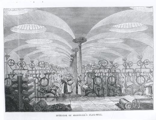 Interior of Marshall's Flax-Mill