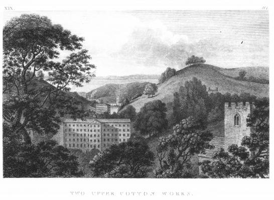 Two Upper Cotton Works, New Lanark Textile mills, 1796