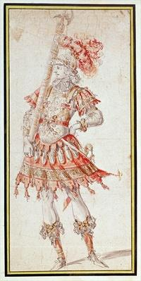 Costume design for Carousel, c.1662